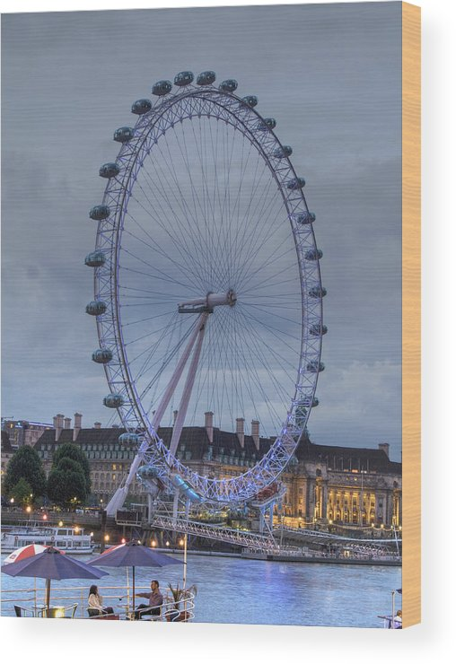 Westminster Wood Print featuring the photograph London Skyline Edf Eye by David French