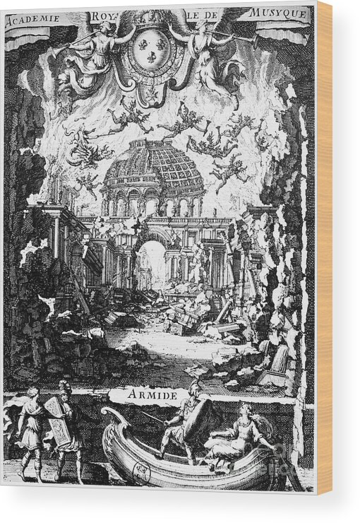 1686 Wood Print featuring the photograph Lully: Armide, 1686 by Granger