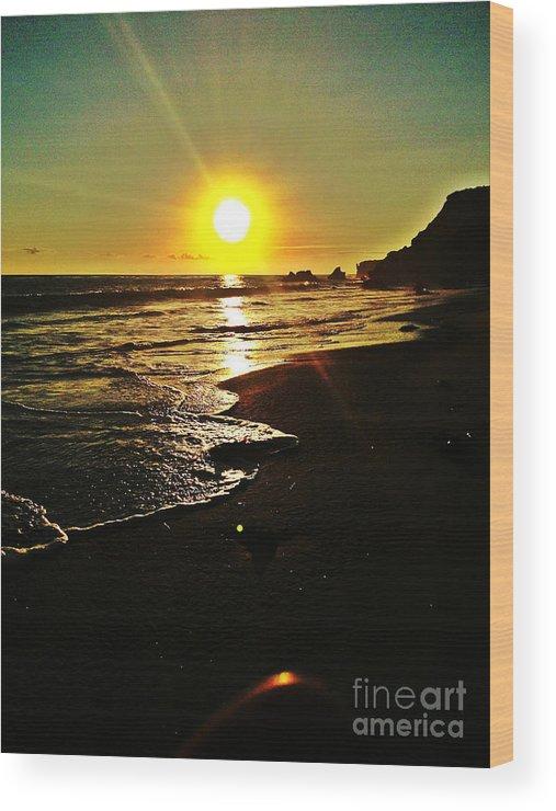 Sunset Wood Print featuring the photograph Malibu Sunset by Robert Jonathan