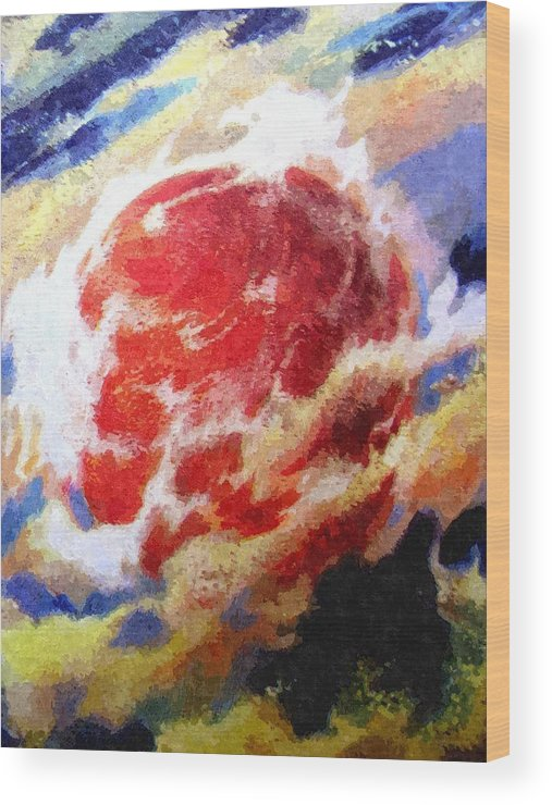Astronomy Wood Print featuring the painting Nemesis Star by Goldy Parazi