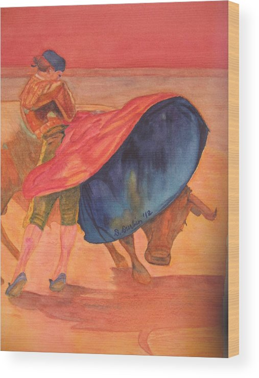 Matador Wood Print featuring the painting Ole' by Dee Durbin