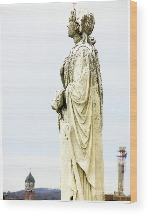 Statue Wood Print featuring the photograph Over Lawrence by John Thomas Foye
