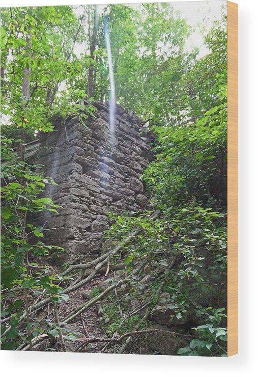 Rock Glen Falls Wood Print featuring the photograph Rock Glen Falls 3 by Cyryn Fyrcyd
