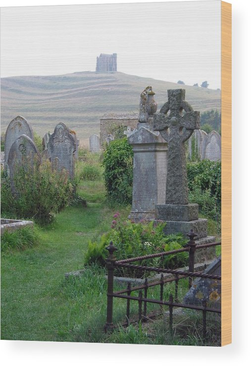 Abbotsbury Wood Print featuring the photograph St. Nicholas Graveyard I by Sheila Rodgers