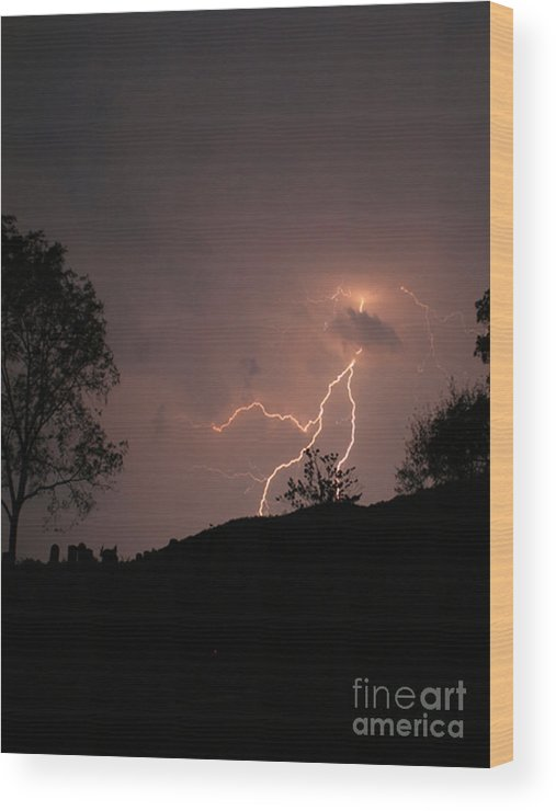 Landscape Wood Print featuring the photograph Storms Glory by Patricia Molison