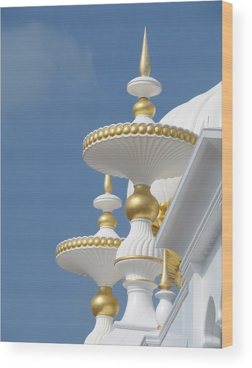 Taj Mahal Casino Wood Print featuring the photograph Taj Mahal Casino by Sheila Rodgers