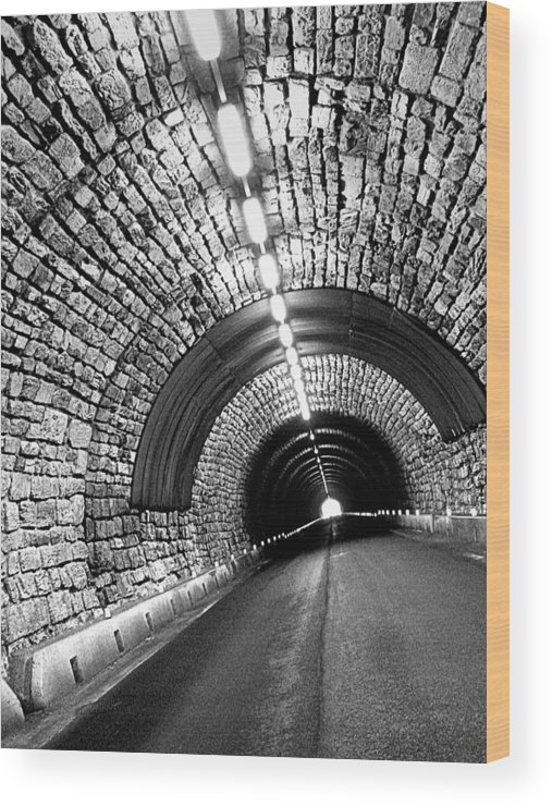 Tunnel Wood Print featuring the photograph The End Of The Tunnel by Photo Proyectolabs
