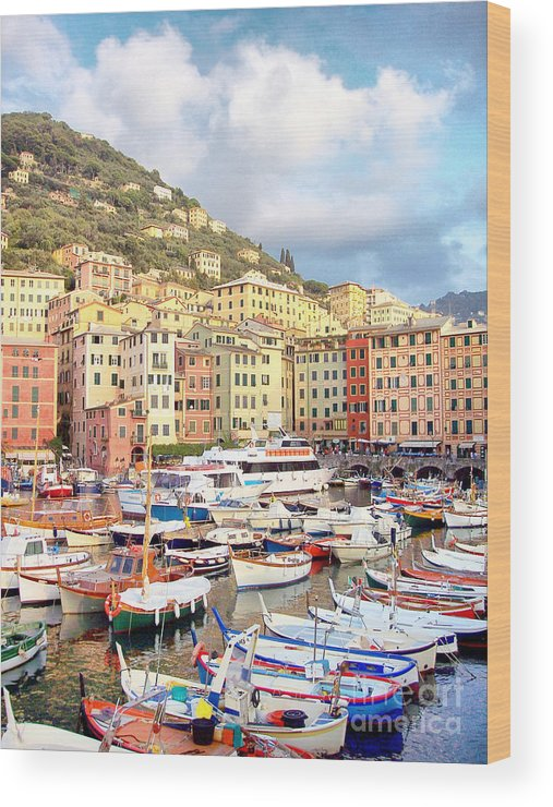 Camogli Wood Print featuring the photograph The Harbor At Camogli by Bill Roche