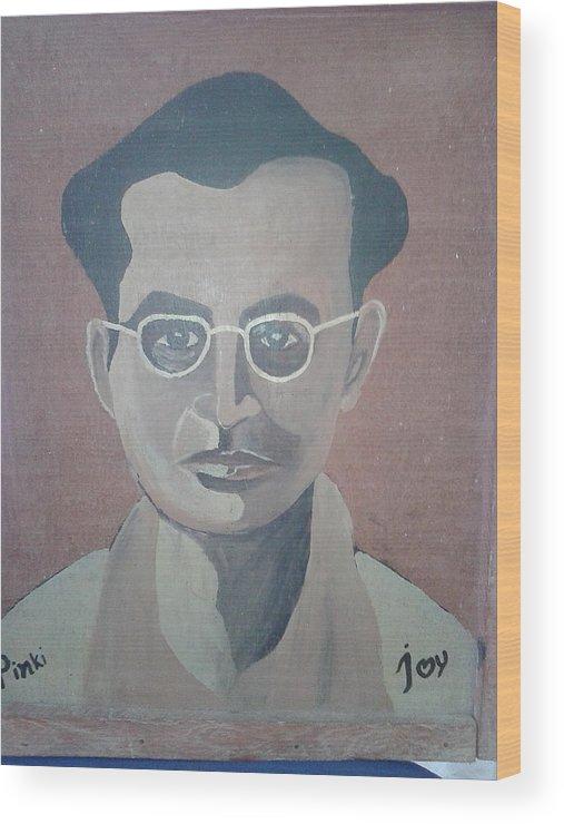 Jutiprasad Agarwala Is Greed Assam Artish Wood Print featuring the drawing Bordoloi by Jayanta