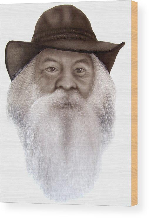 Portrait Wood Print featuring the painting Lyle by Brett McGrath