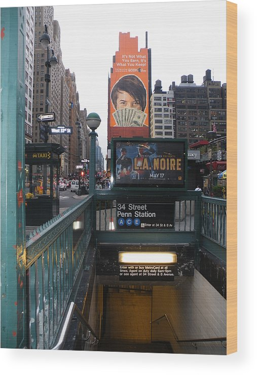 New York Wood Print featuring the photograph Subway by Luke Clarkson