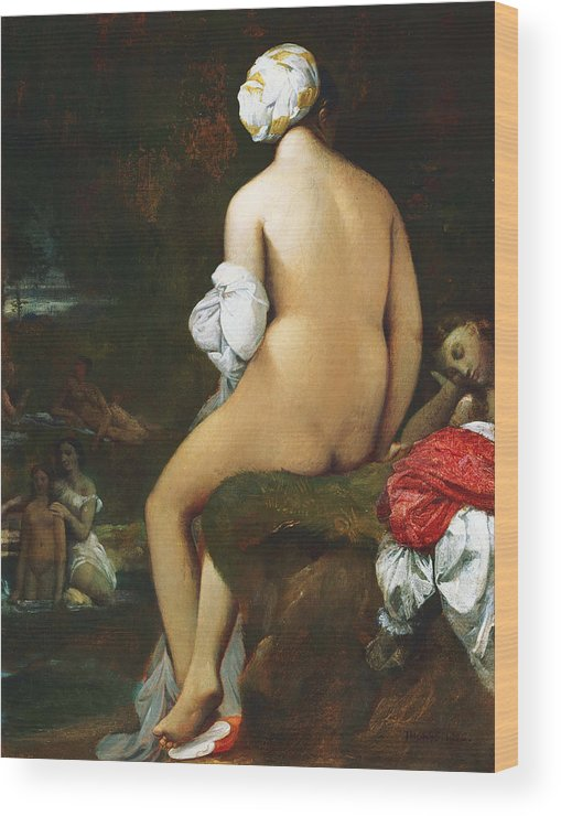 Bathers Wood Print featuring the painting The Small Bather by Jean-Auguste-Dominique Ingres