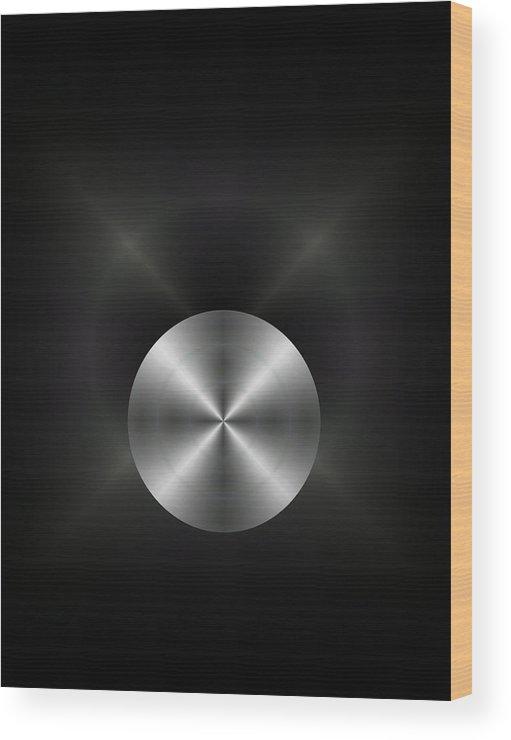 Abstract Wood Print featuring the mixed media 3016-8 2017 by John Krakora