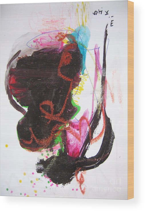 Sjkim Art Wood Print featuring the painting Abstract Expressionsim Art by Seon-jeong Kim