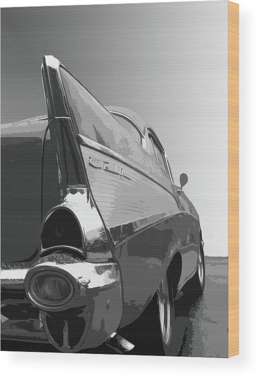 1957 Wood Print featuring the photograph 57 Chevy Verticle by Dick Goodman