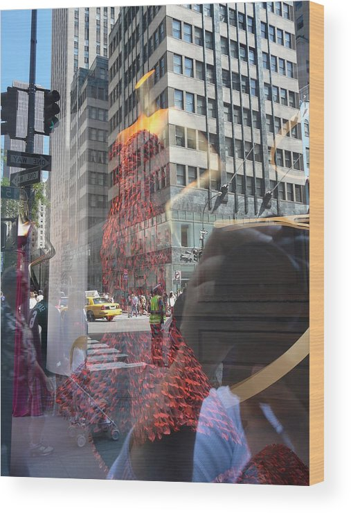 New York Wood Print featuring the photograph 5th Avenue by Valerie Ornstein