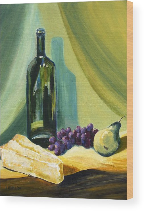 Still Life Wood Print featuring the painting A Few Of My Favorite Things by Joe Lanni