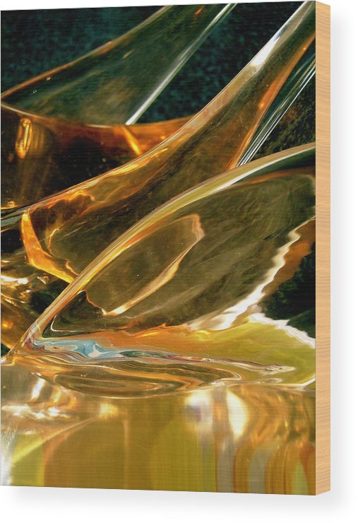 Abstract Shapes Wood Print featuring the photograph Abstract 808 by Stephanie Moore