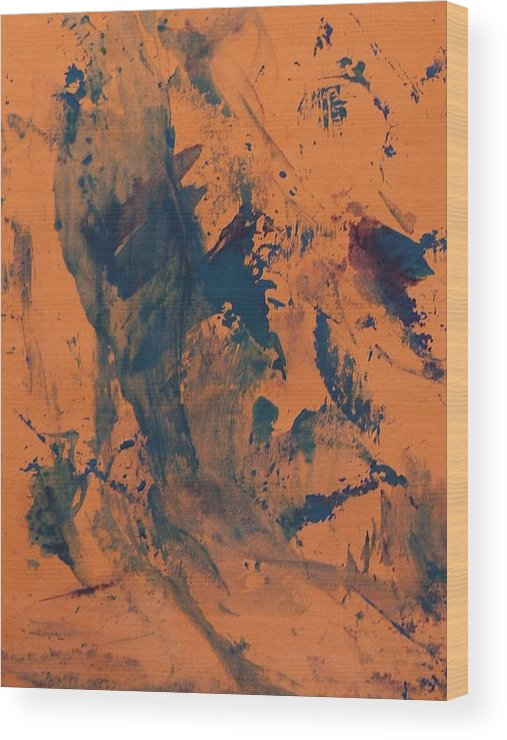 Brown Wood Print featuring the painting After Torture Beating by Bruce Combs - REACH BEYOND