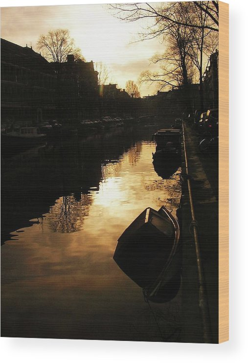 Landscape Wood Print featuring the photograph Amsterdam Netherlands by Louise Macarthur Art and Photography