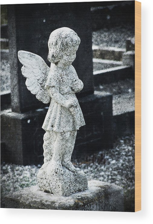 Ireland Wood Print featuring the photograph Angel In Roscommon No 3 by Teresa Mucha