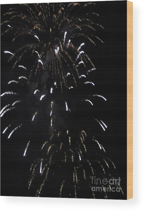 Around The Fourth Fireworks Iv Photograph Photography Daniel Guy Henning Wood Print featuring the photograph Around The Fourth Fireworks Iv by Daniel Henning