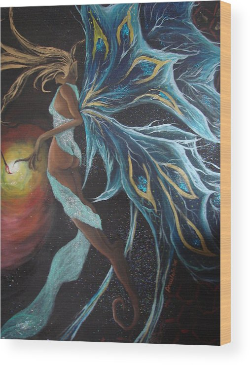 Figure Wood Print featuring the painting Art Is Magic by Glory Fraulein Wolfe