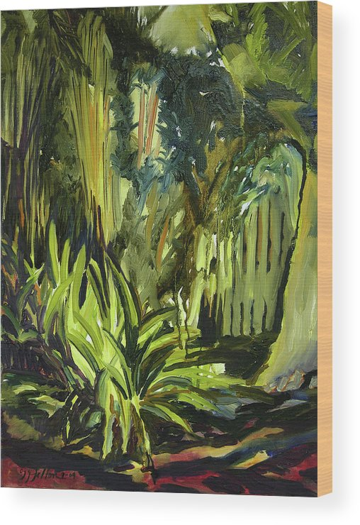 Canvas Prints Wood Print featuring the painting Bamboo Garden I by Julianne Felton