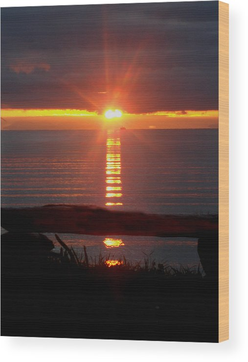 Sunrise Wood Print featuring the photograph Baptism Sunrise by Barbara Stirrup