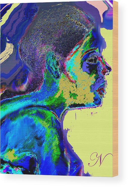Portrait Wood Print featuring the digital art Belong by Noredin Morgan