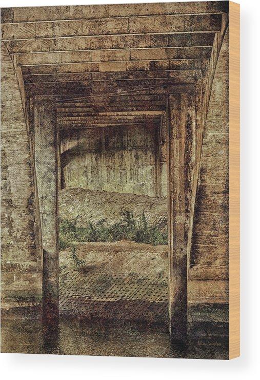 Bridge Wood Print featuring the photograph Below The Bridge by Wim Lanclus