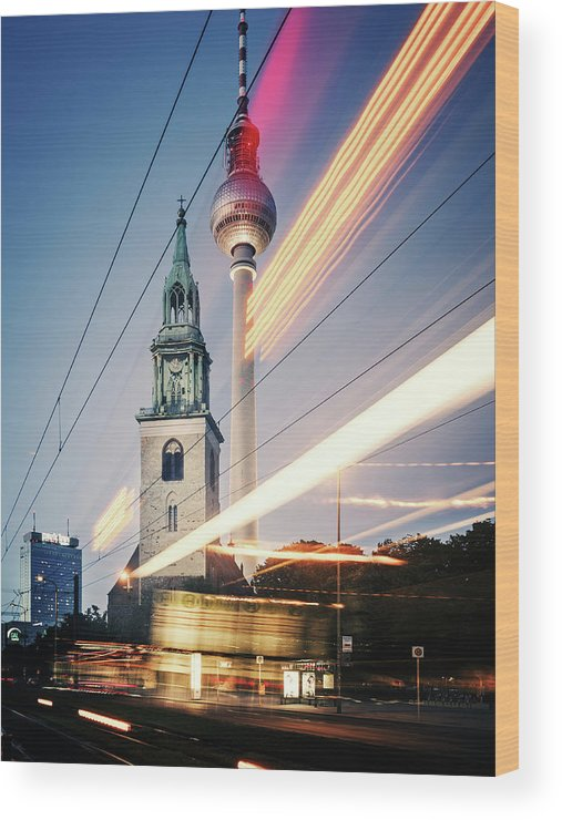 Berlin Wood Print featuring the photograph Berlin - Karl-liebknecht-strasse by Alexander Voss