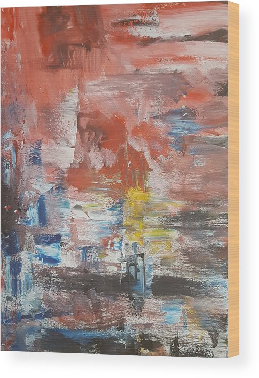 Abstract Wood Print featuring the painting Bias Of Mind by Vasily Tvoretsky