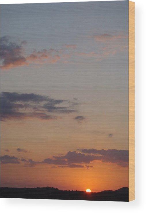 Sunset Wood Print featuring the photograph Big Texas Sky Three by Ana Villaronga