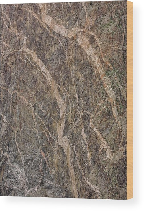 Black Canyon Of The Gunnison Wood Print featuring the photograph Black Canyon Geology by Connor Beekman
