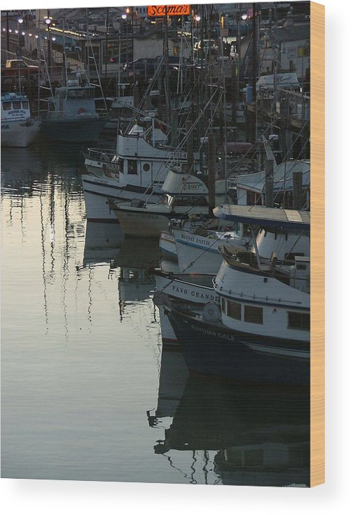 Boats Wood Print featuring the photograph Blind Faith by Donna Thomas