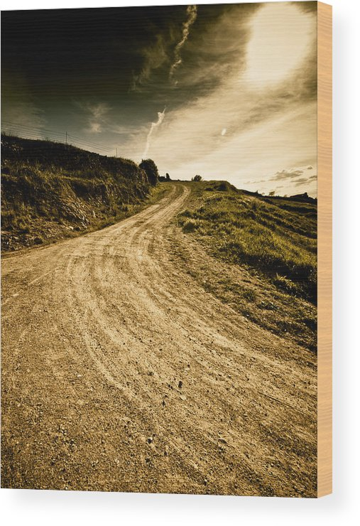 Path Wood Print featuring the photograph Camino Rural by Felix M Cobos