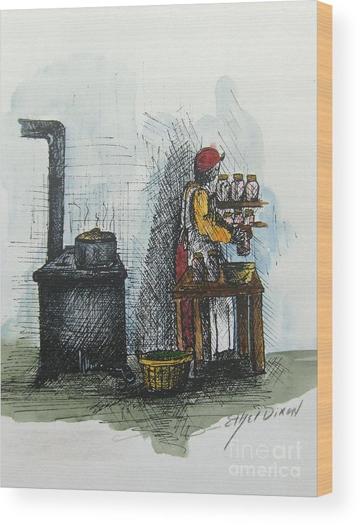 African American Art Wood Print featuring the painting Canning by Ethel Dixon