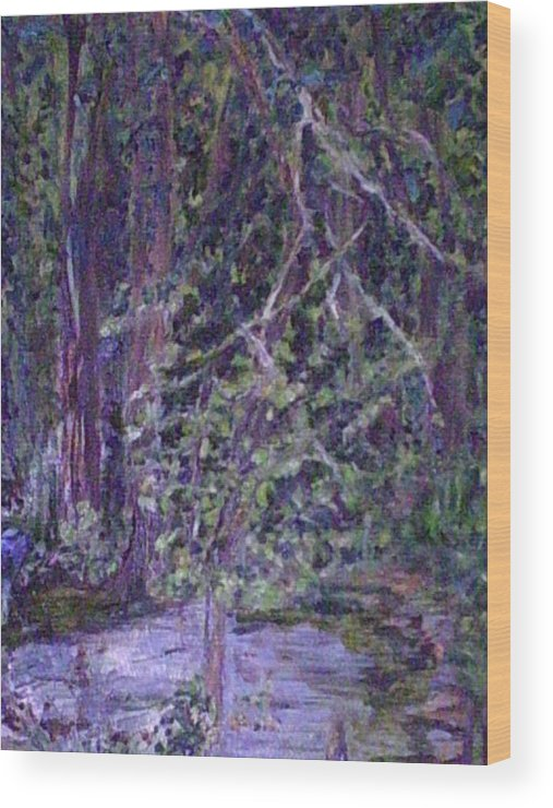 Landscape Wood Print featuring the painting Casa Mesa by Impressionist FineArtist Tucker Demps Collection
