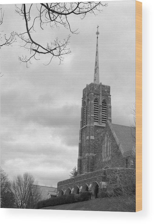 Army Wood Print featuring the photograph Catholic Chapel West Point by Staci-Jill Burnley