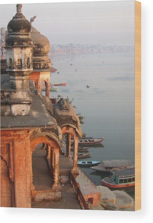 Chet Singh Wood Print featuring the photograph Chet Singh Fort by Art Nomad Sandra Hansen