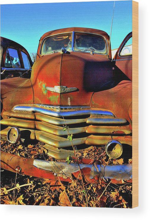 Vintage Wood Print featuring the photograph Chevrolet Truck 1 by Tamra Lockard