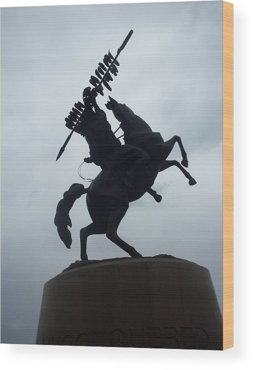 Horse Wood Print featuring the photograph Chief Osceola Statue by Warren Thompson