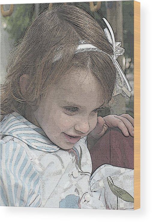 Children Wood Print featuring the photograph Children Series by Ginger Geftakys