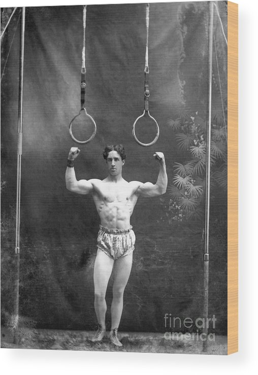1885 Wood Print featuring the photograph Circus Strongman, 1885 by Granger