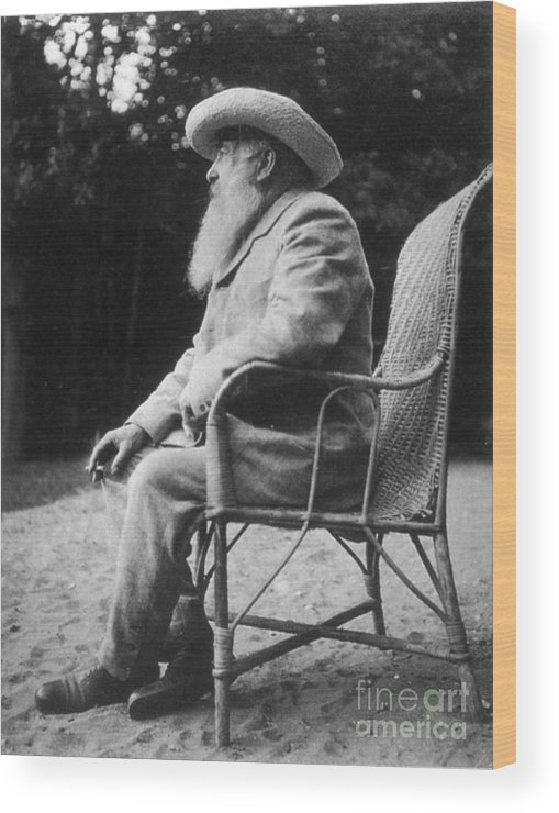 20th Century Wood Print featuring the photograph Claude Monet (1840-1926) by Granger
