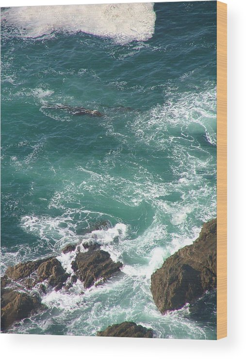 Seascaped Wood Print featuring the photograph Cold California Waters by Donna Thomas