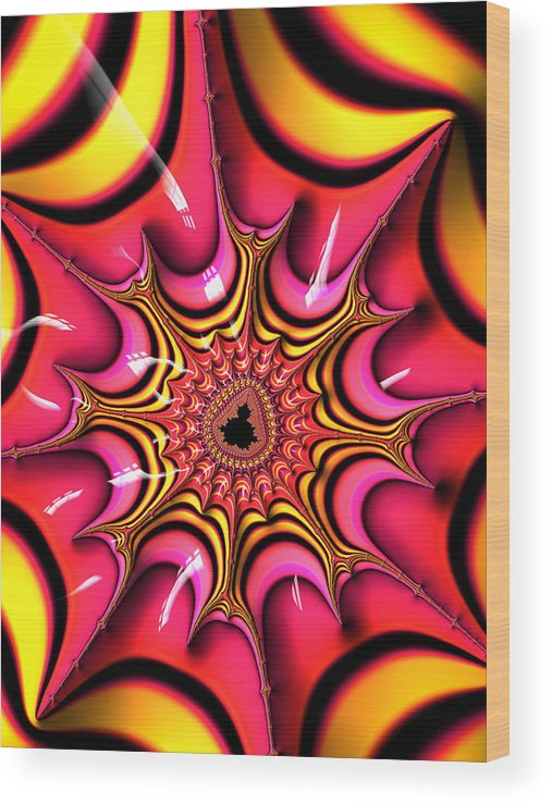 Colorful Wood Print featuring the digital art Colorful Fractal Art With Candy-colors by Matthias Hauser