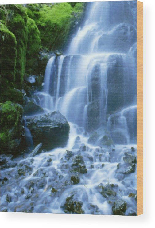 Landscape Wood Print featuring the photograph Columbia River by Vicky Brago-Mitchell