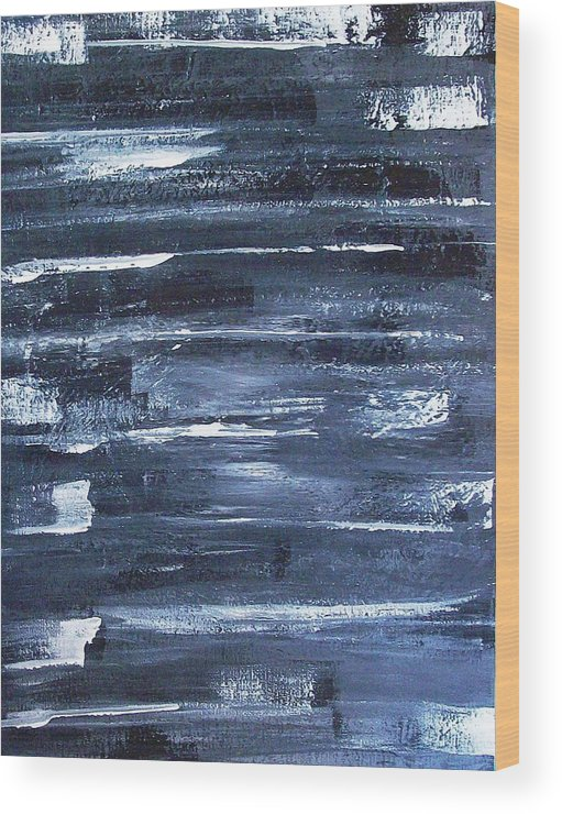 Abstract Wood Print featuring the painting Comets In The Night by Roy Penny